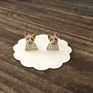 Jewelry - Yorkie Enamel Stud Earrings